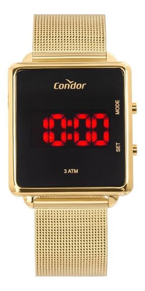 Relógio Condor Feminino Quadrado Dourado Digit Cojhs31baa/4x