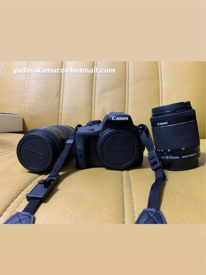 Câmera Canon T7 (kiss X7) Com Lente 18-55mm E 75-300mm
