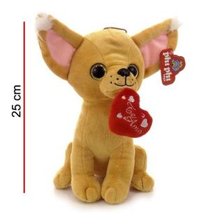 Peluche Perrito Chihuahua Enamorado 25 Cm Phi Phi Toys 3809