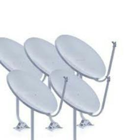 Kit 05 Antenas Banda Ku 60cm Completas + Caixa Cabo Sem Lnbs