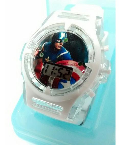 Relógio Infantil Capitão América Avengers Barato