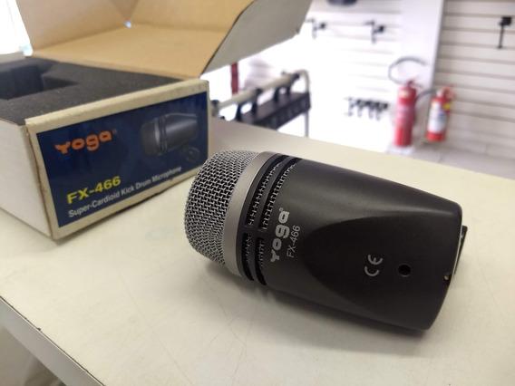 Microfone C/ Fio Dinâmico P/ Bumbo Fx-466 - Yoga