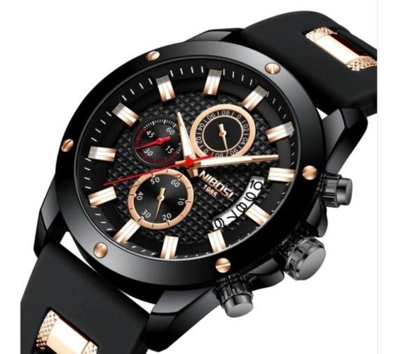 Relógio Pulso - Nibosi - 46mm - Multifuncional - Hardlex