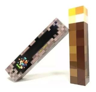 Luminária Tocha Minecraft Luz De Led De Mesa Ou Parede