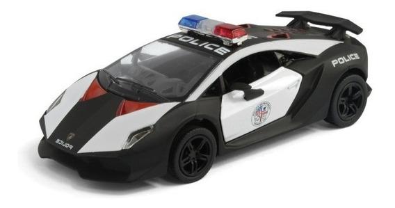 Auto Lamborghini Sesto Elemento Policia Maqueta Kinsmart