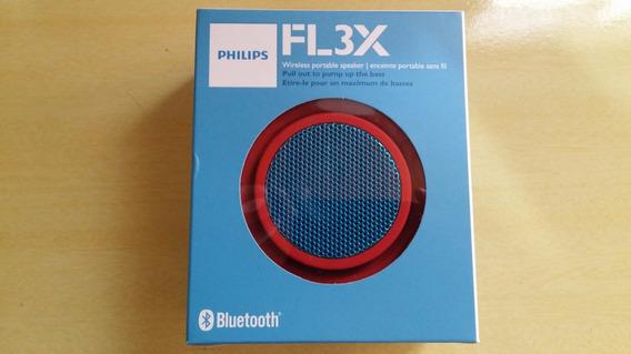 Caixa De Som Bluetooth Philips Bt2000r Vermelha E Azul 2w