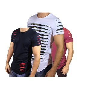Kit 3 Camisas Escaping Diversos Modelos Rasgados