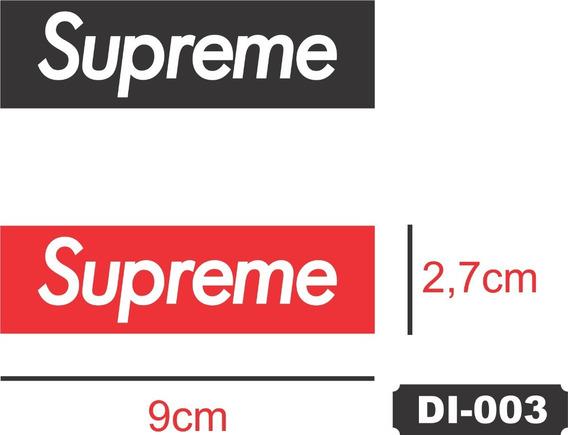 6x Adesivos Supreme Logo Vermelho Prova D