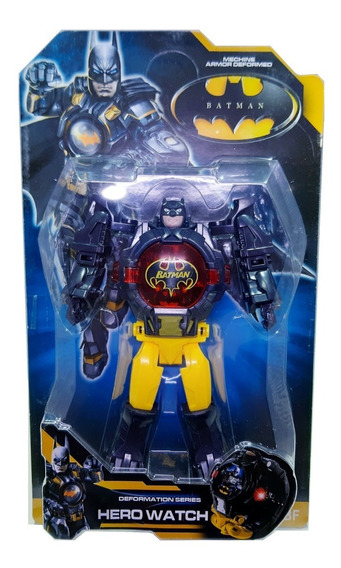 Reloj Hulk Batman Ironman Capitan 2 En 1 Juguete Transformer