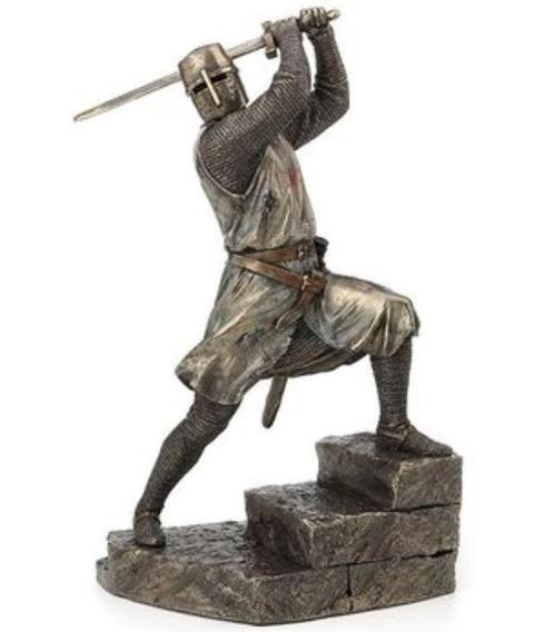 Caballero Templario Acabado En Bronce De 29cm De Alto