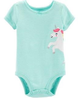Body Carter´s Manga Corta Bebes Nena 12 Meses Unicornio