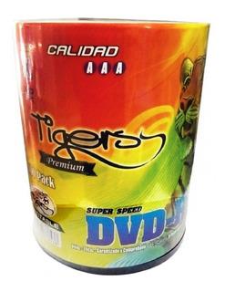 Dvd - R Virgen Tiger Imprimible En Blanco X 100 Unidades 8x