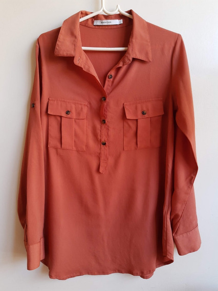 Camisa Cher Mujer Talle 2 Color Ladrillo