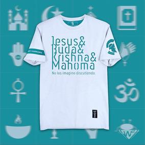 Playera Blanca W2 Mod. Jesús, Buda, Krishna Y Mahoma