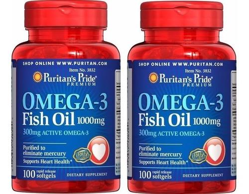 Omega 3 Fish Oil 1.000 Mg Puritan´s Pride 200 Softgels