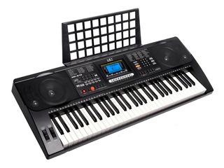 Organo Teclado Musical Meike Mk812 61 Teclas Sensitivas Cuot