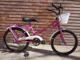 Bicicleta Futura Rodado 20 Nena Niña Bmx Full Vintage Paseo