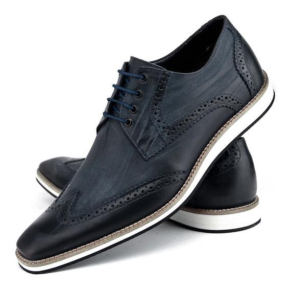 Sapato Social Masculino Couro Legitimo Bigioni Oxford Luxo