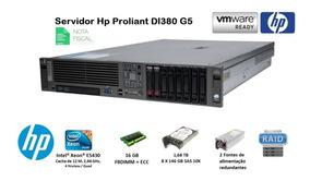 Servidor Hp Dl380 G5 16gb Ram + Hd 1,168 Tb + Xeon Quad + Nf