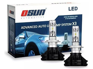 Kit Focos Luces Led Osun X3 Philips 55 Watts H11