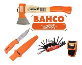 Combo Cuchillo + Hacha + Multitool Bahco Ideal Camping Caza