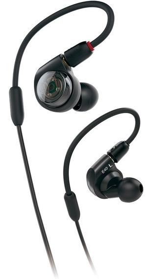 Ath E40 Fone De Ouvido In-ear Audio Technica Cabo Flexível