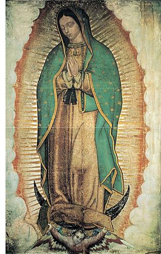 Virgen Guadalupe Lienzografia 60x90 Con Bastidor