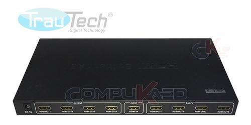Splitter Hdmi 1 X 8 Full Hd 3d Trautech Alta Definicion 1x8