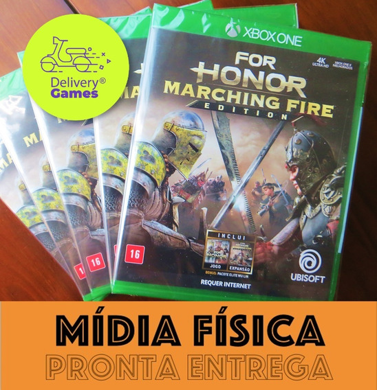 For Honor Marching Fire Xbox One Mídia Física Novo Lacrado