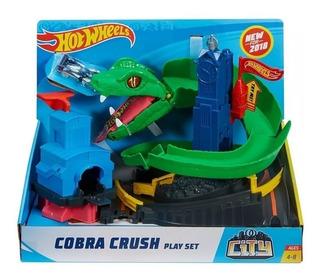 Pista Hot Wheels Conjunto Ataque Da Cobra City Mattel 8283-6