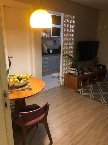 Imagem 1 de 7 de Apartamento Com 1 Dormitório Para Alugar, 49 M² Por R$ 2.400,00/mês - Campo Belo - São Paulo/sp - Ap0962