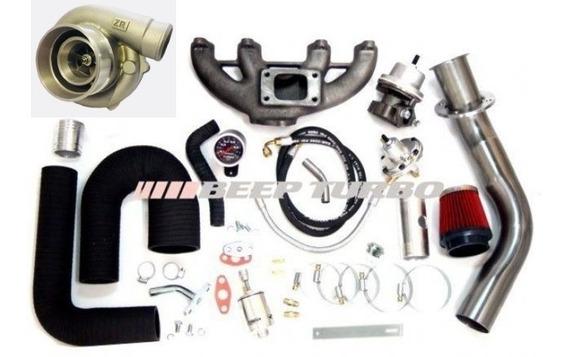 Kit Turbo Vw Ap Mi Injetado Com Turbina Zr 42/48 Monofluxo