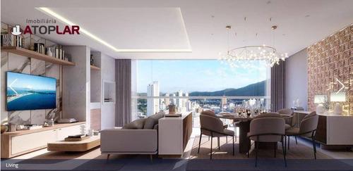 Apartamento Com 3 Dormitórios Sendo 1 Suíte  À Venda, 131 M² Por R$ 1.085.000 - Centro - Itajaí/sc - Ap1789