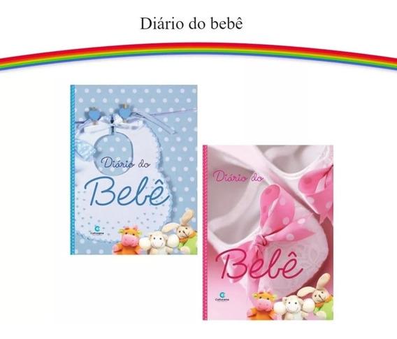 2 Diário Do Bebê Album Fotos Anotações Caderneta Rosa Azul