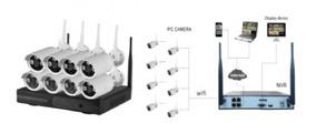 Kit 8 Câmera Wifi