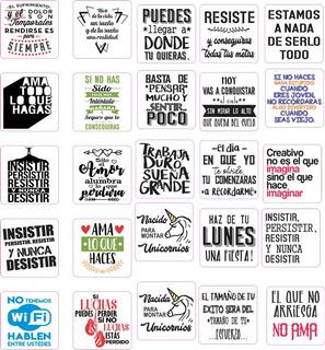 100 Plantillas Digitales Frases Vinilo Sublimacion Tazas