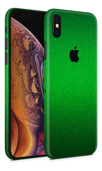 Skin Verde Metalico Para Telefonos Apple iPhone