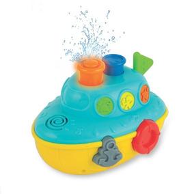 Brinquedo Para Banho Diversão Aquática Barco Musical Win Fun