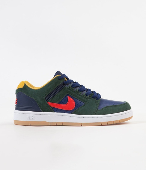 Nike Sb Air Force Ii Low Midnight Green Red