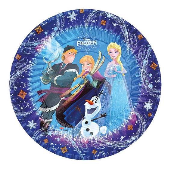 Set Kit Cumpleaños Frozen P/20 Lic. Oficial + Adorno Torta
