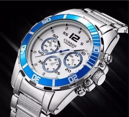 Relógio Curren Masculino Luxo Elegante Barato