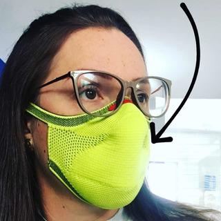 Máscara De Proteção Fiber Knit 3d Com 1 Refil Filtro G