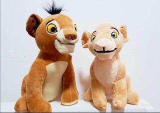 Peluche Rey León Simba 25cm Y Nala 23cm Combo X Los 2