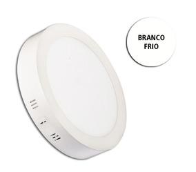 Pacote 5 Painel Plafon 12w - Sobrepor Redondo - Bf