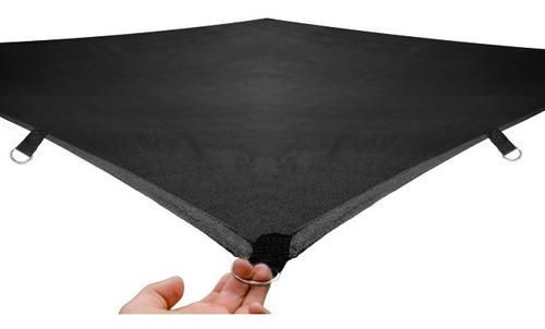 Imagen 1 de 10 de Malla Sombra 90% Raschel Negro De 4mx4m Lista Para Instalar