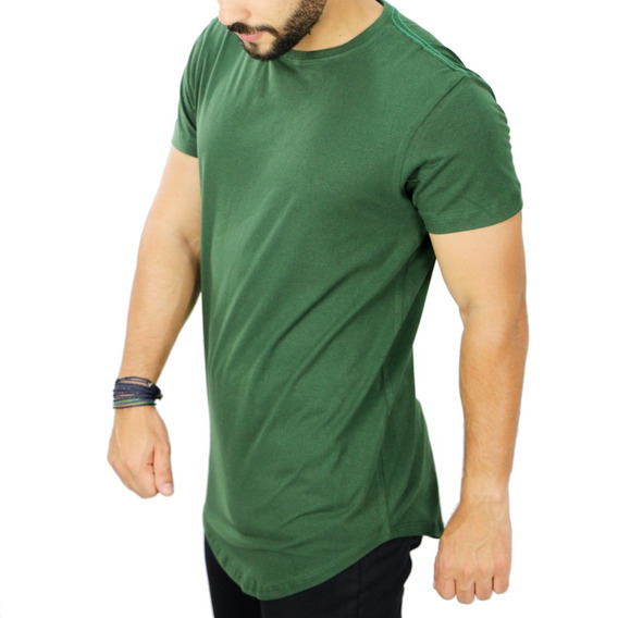 Camiseta Oversized Longline Redonda Swag Camisa Masculina