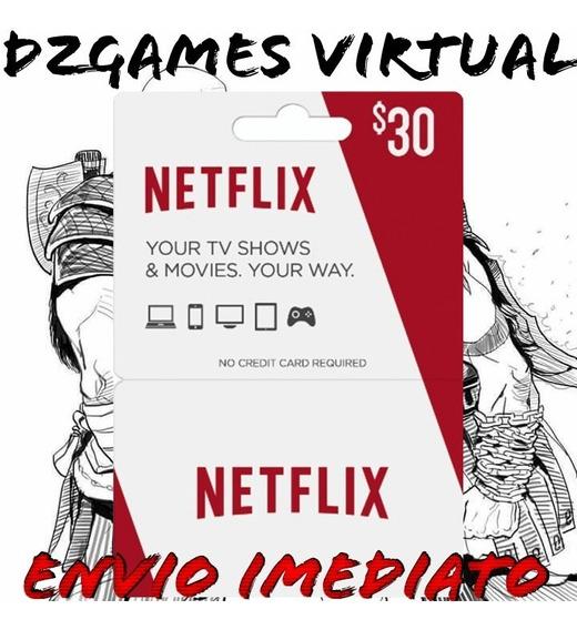 Cartão Pré-pago Netflix R$ 30 Envio Imediato