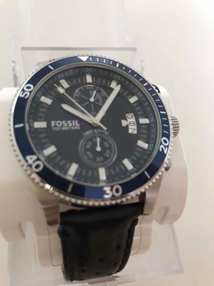 Relógio Fóssil 100 Metros -ch 2945/741409- Pulseira Couro