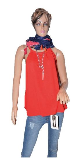 Cueta Blanca Musculosa Rita Color Roja Promo