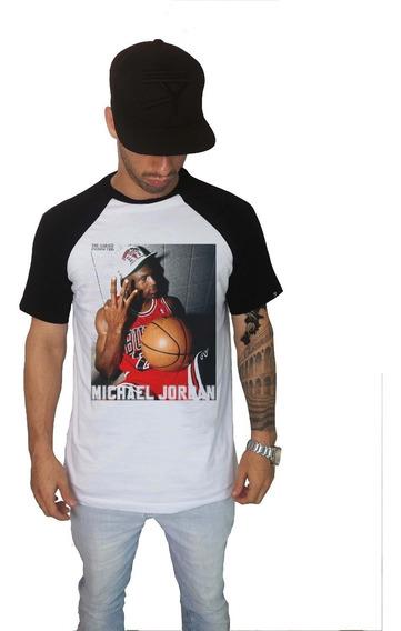 Camisa Swag Rap Hiphop Michael Jordan Champion Raglan - 7